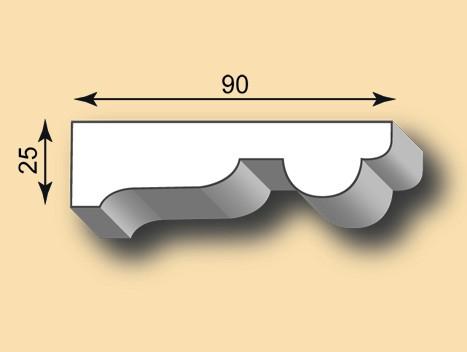 Muster Stuckleiste / Stuckprofil SL90-06