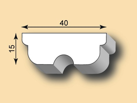 Muster Stuckleiste / Stuckprofil SL40-13