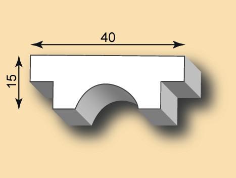 Stuckleiste / Stuckprofil SL40-40