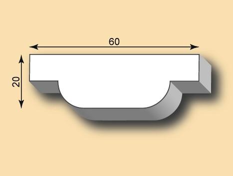 Stuckleiste / Stuckprofil SL60-05