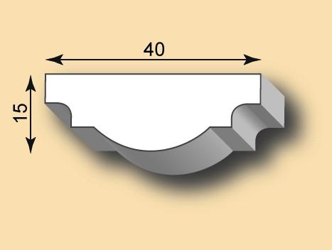 Stuckleiste / Stuckprofil SL40-12