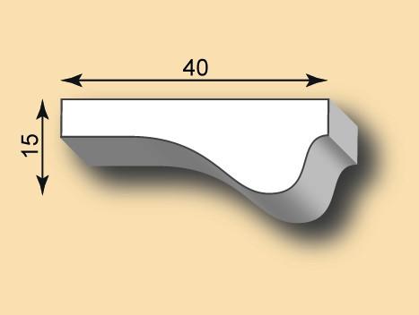 Muster Stuckleiste / Stuckprofil SL40-01