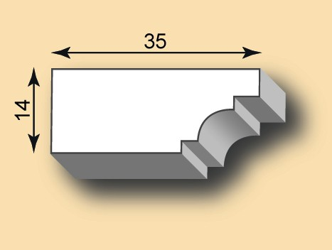 Stuckleiste / Stuckprofil SL35-11
