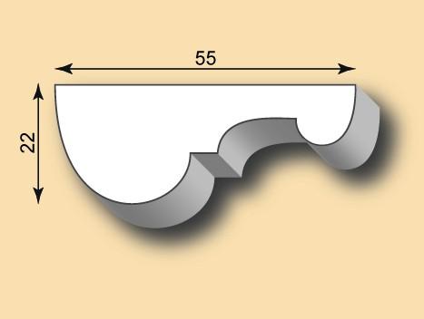 Stuckleiste / Stuckprofil SL55-01
