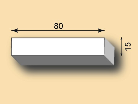 Stuckleiste / Stuckprofil SL80-13