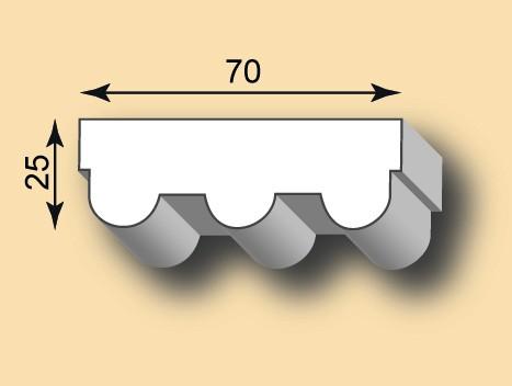 Stuckleiste / Stuckprofil SL70-28
