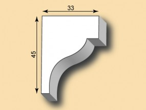 Stuckleiste / Stuckprofil SL33-01
